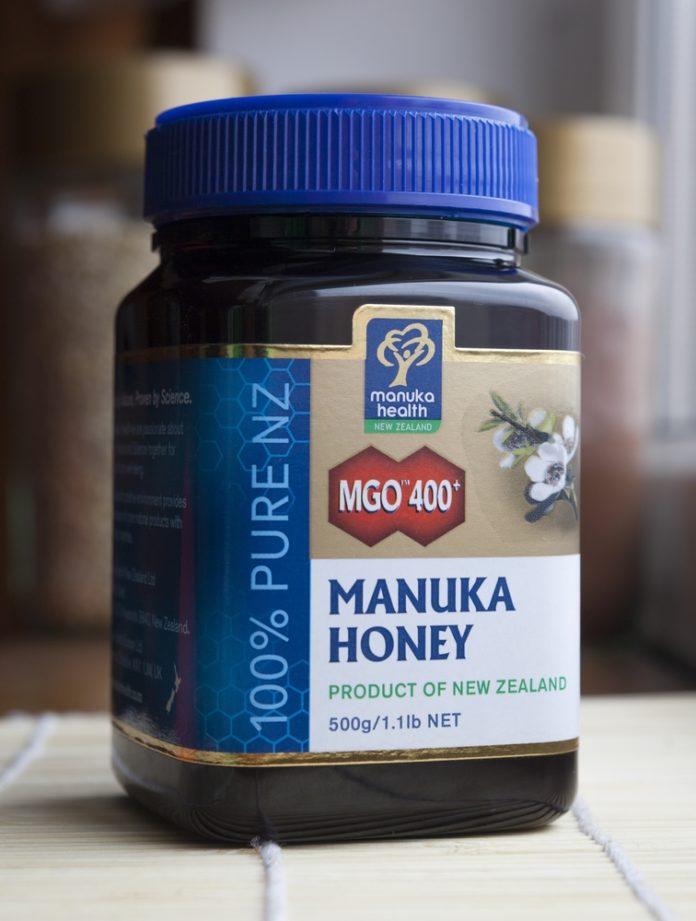 Einen Glas Original Manuka Honig aus Neuseeland