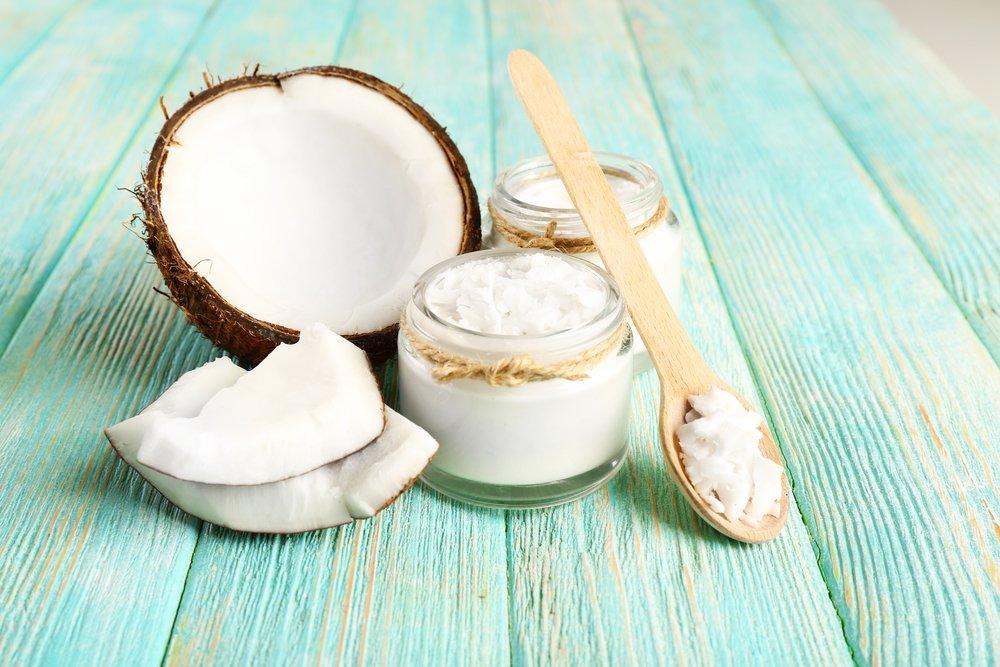 Kokosnuss, Kokosöl im Glas