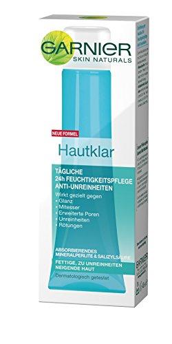 GARNIER Hautklar 24h Feuchtigkeitspflege Gesicht Anti-Unreinheiten / Gesichtscreme für fettige + zu Unreinheiten neigende Haut, 3er Pack - 3 x 40 ml - 2