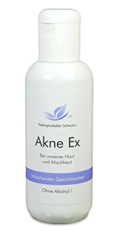 Naturprodukte Schwarz - Akne Ex Gesichtswasser - Ohne Alkohol, 150ml - 1