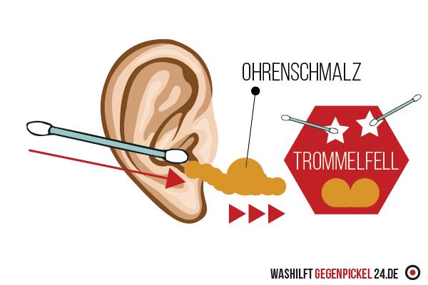 Pickel im Ohr - Was man vermeiden sollte